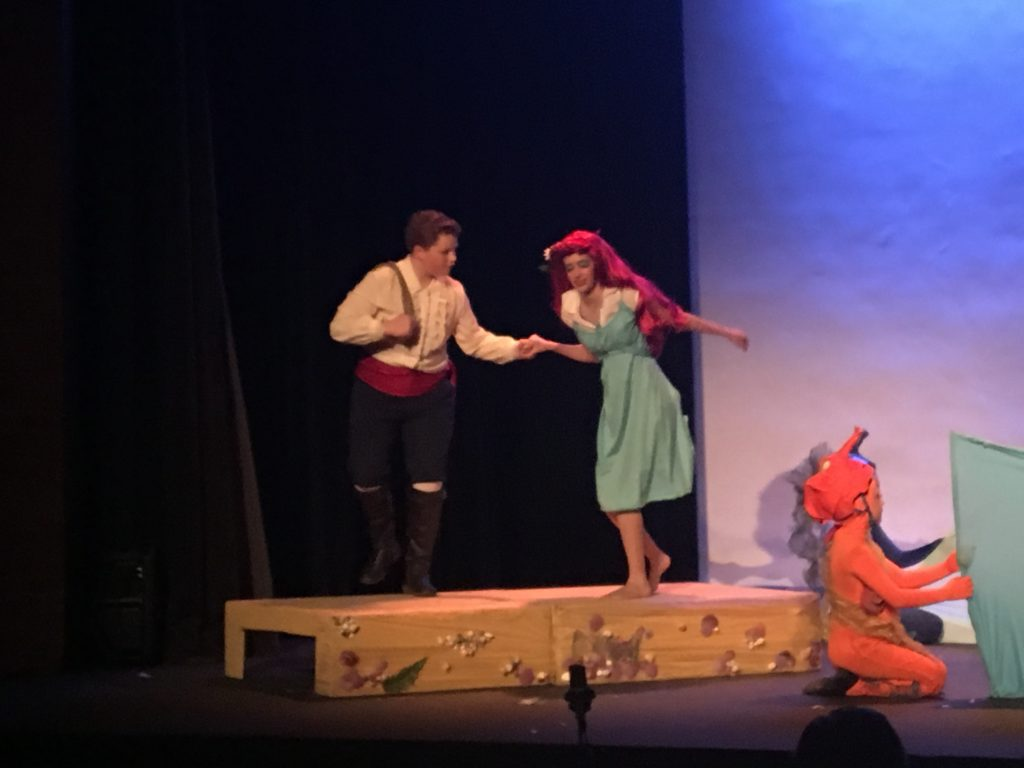 Little Mermaid Musical 2017 - Ariel becomes human, walks with Prince Eric
